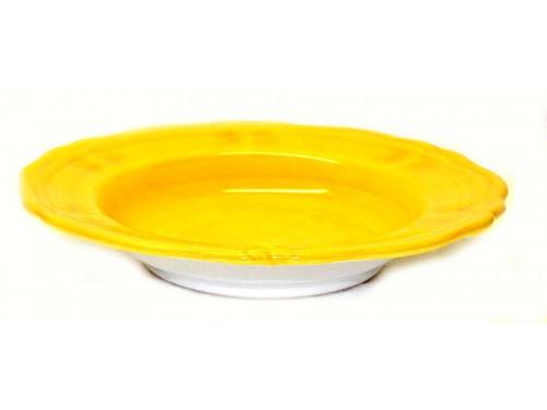 Pasta Plate Monocolor yellow