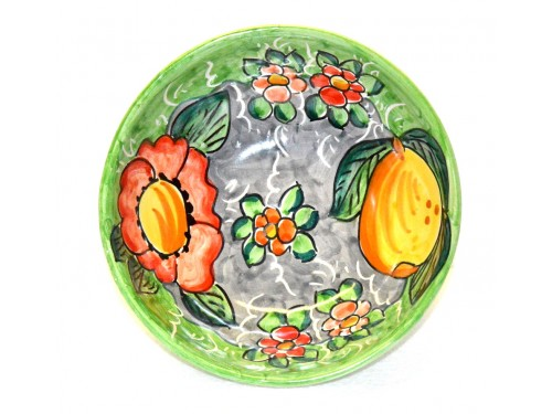 Soup bowl Lemon Flower Green