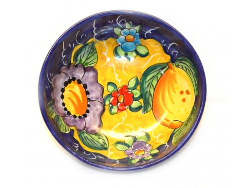 Soup bowl Lemon Flower blue
