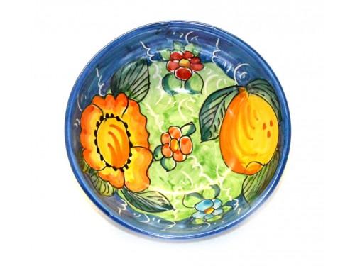 Soup bowl Lemon Flower light blue