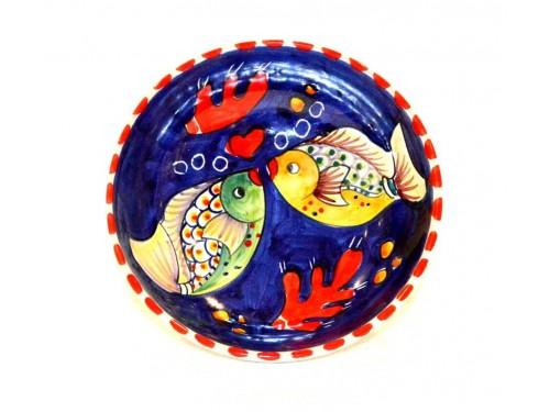 Soup bowl Fishes Blue