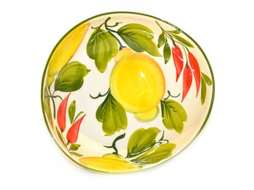 Soup bowl Lemon and chili peppers