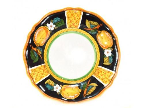 Salad Plate Lemon Black