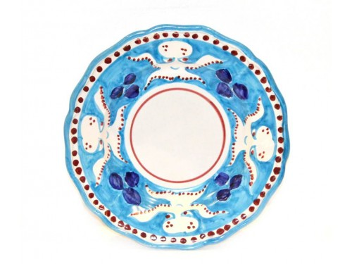Pasta Plate Octopus Light Blue