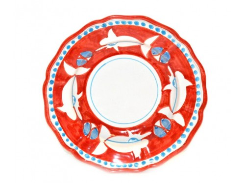 Pasta Plate Shark Red