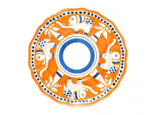 Pasta Plate Elephant Orange
