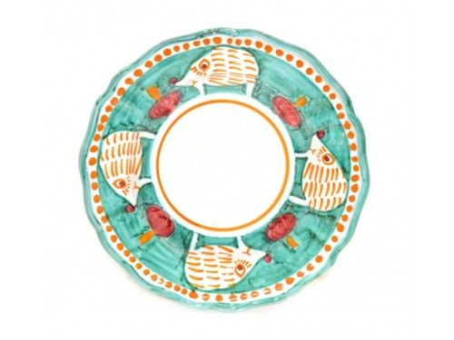 Pasta Plate hedgehog Green