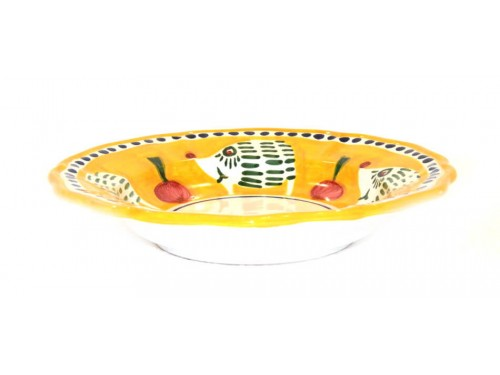 Pasta Plate Hedgehog Yellow