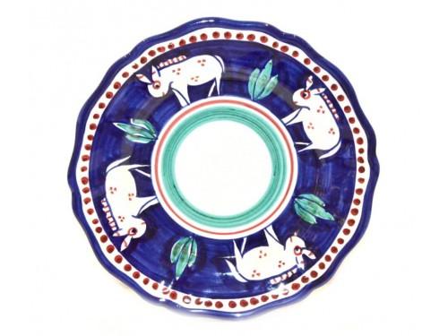 Dinner Plate Donkey blue