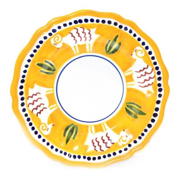 Salad Plate goat yellow