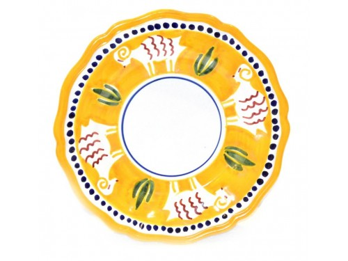 Salad Plate goat yellow