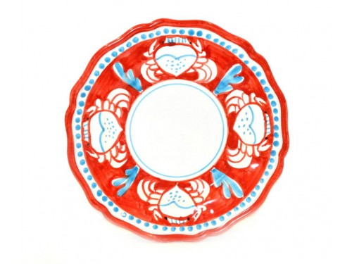 Salad Plate crab red