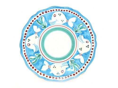 Dinner Plate Whale light blue
