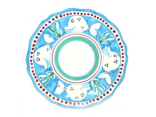 Salad Plate whale light blue