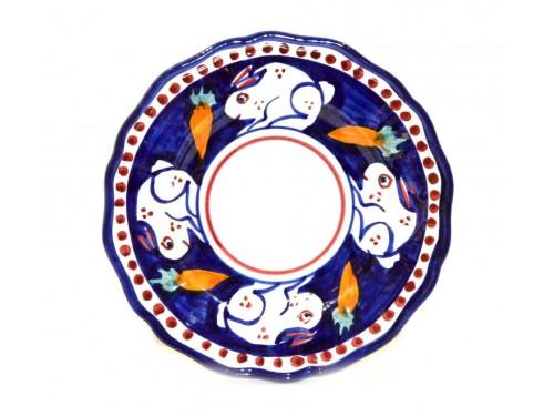 Dinner Plate Rabbit blue