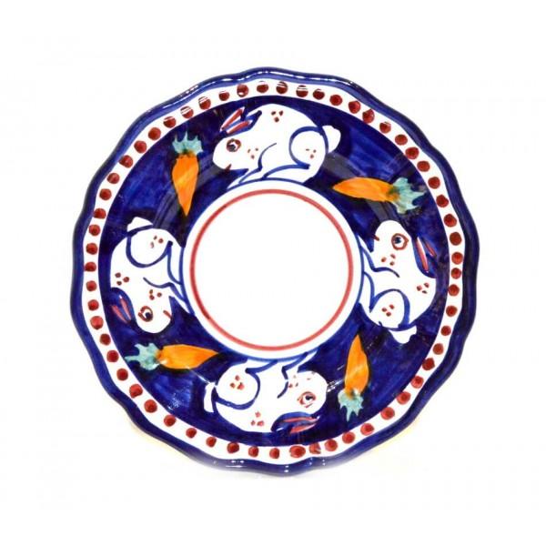 Salad Plate rabbit blue