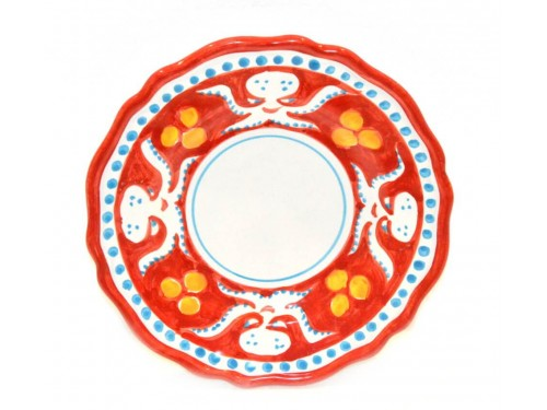 Salad Plate octopus red