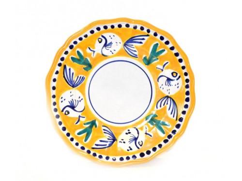 Dinner Plate Puffer fish Yellow