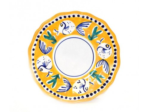 Salad Plate puffer fish yellow