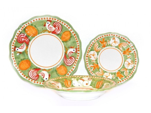 Set Dishes Animals green
