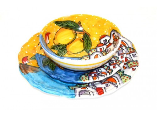Set Dishes houses yellow