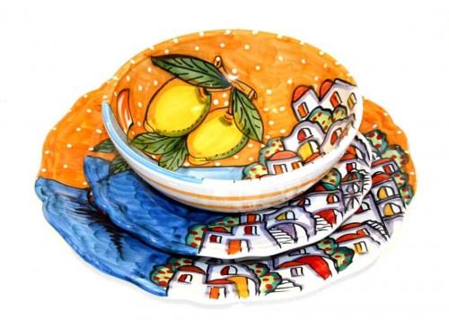 Set Piatti Casette arancione