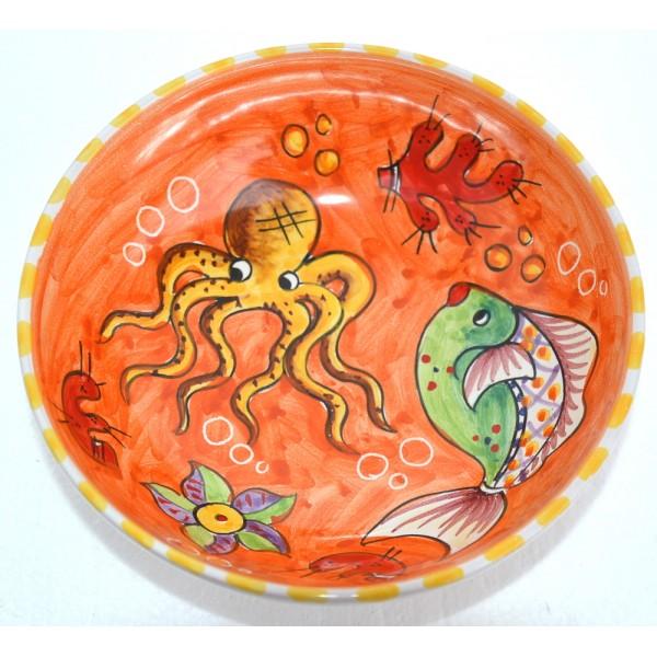 Set Dishes Fishes orange