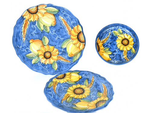Set Dishes Sunflower