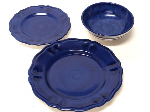 Set dishes Monocolor Blue