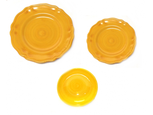 Set dishes Monocolor yellow