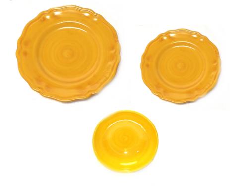 Set dishes Monocolor yellow