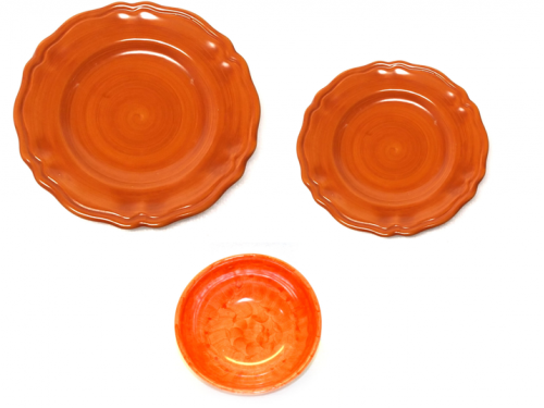 Set dishes Monocolor orange
