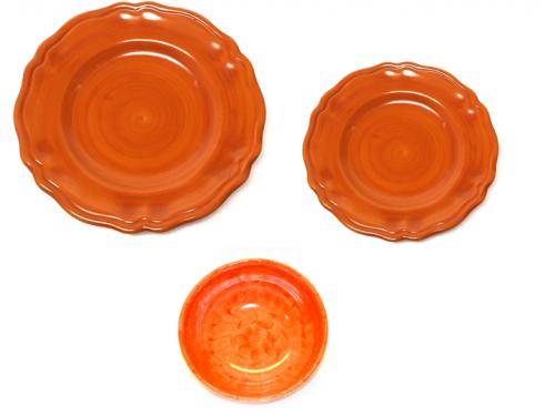 Set dishes Monocolor orange