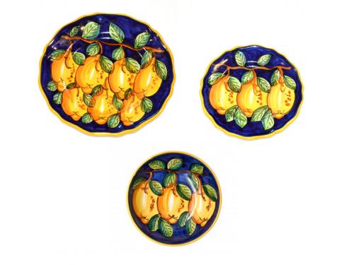 Set Piatti Limoni Blu