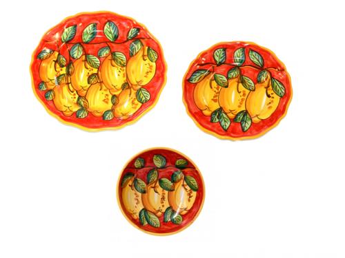 Set Piatti Limoni rosso