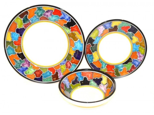 Set Piatti Multicolore