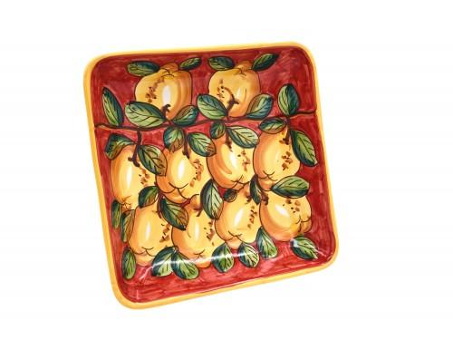 Squared Bowl Lemon red