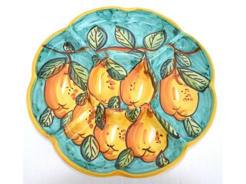 Antipastiera a fiore Limoni verde