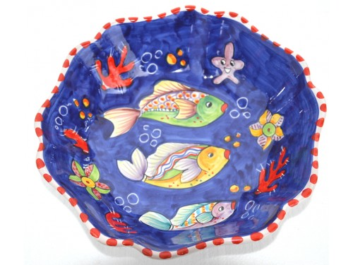 Scalopped Bowl Fishes blue