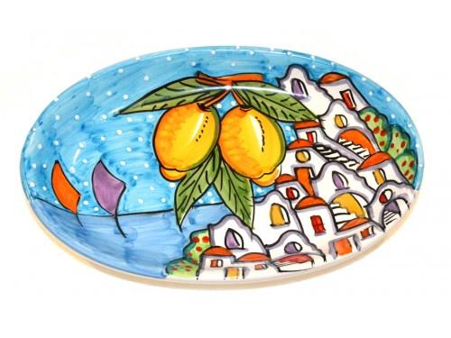 Oval Plate Houses light blue