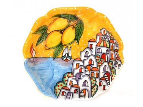 Scalopped Bowl Houses yellow