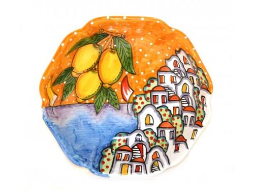 Scalopped Bowl Houses orange