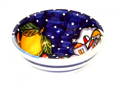 Condiment Bowl Houses Blue 4,70 inches