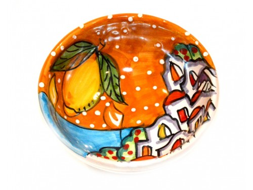 Condiment Bowl Houses orange 4,70 inches