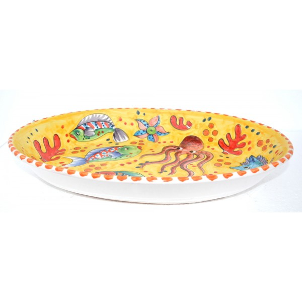 Oval Plate Fishes yellow