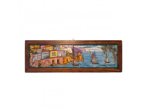 Set 2 tiles Amalfi framed