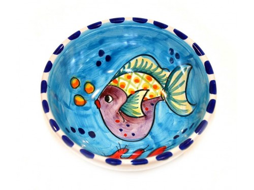 Condiment Bowl Fishes Light Blue 4,70 inches