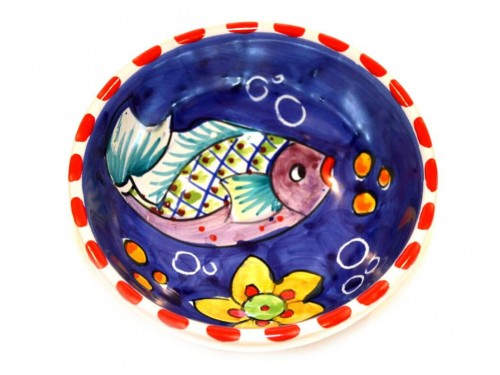 Condiment Bowl Fishes Blue 4,70 inches