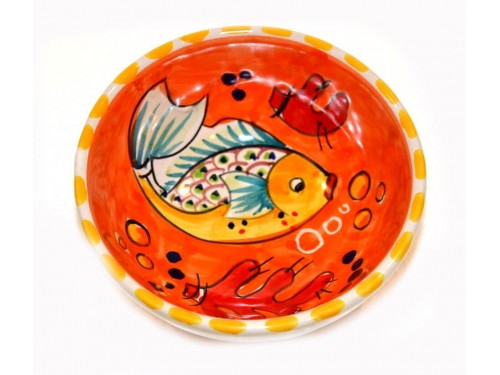Condiment Bowl Fishes orange 4,70 inches