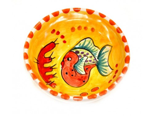 Condiment Bowl Fishes yellow 4,70 inches